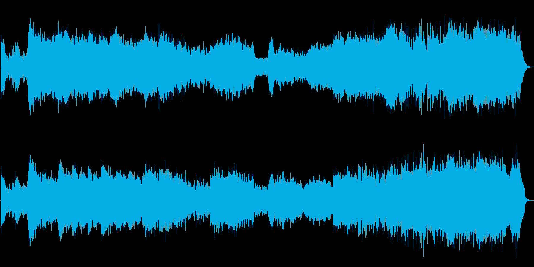 神秘的で古代的な森林を流れるBGMの再生済みの波形