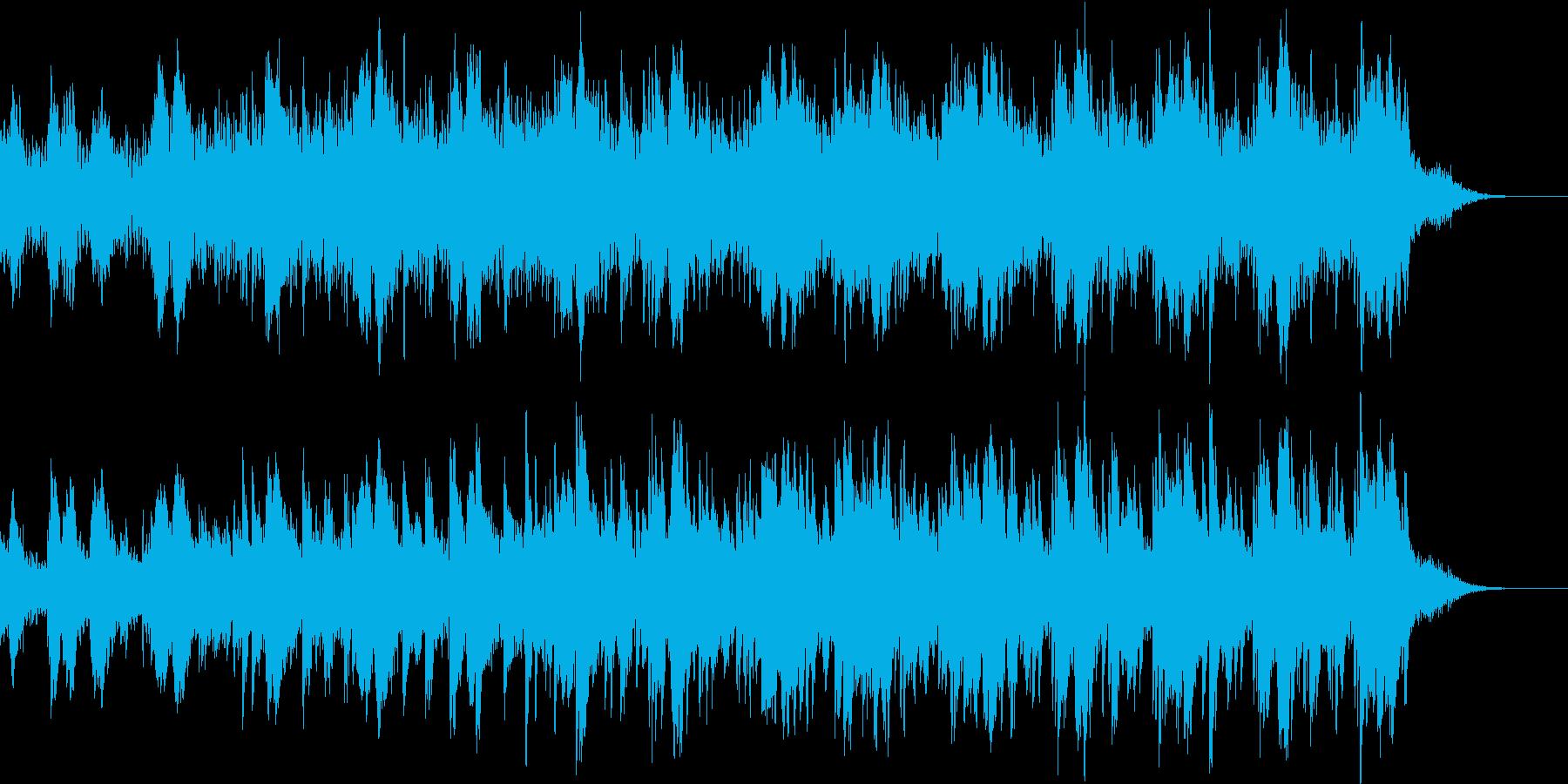 ピアノと電子の先進的な曲 happy の再生済みの波形