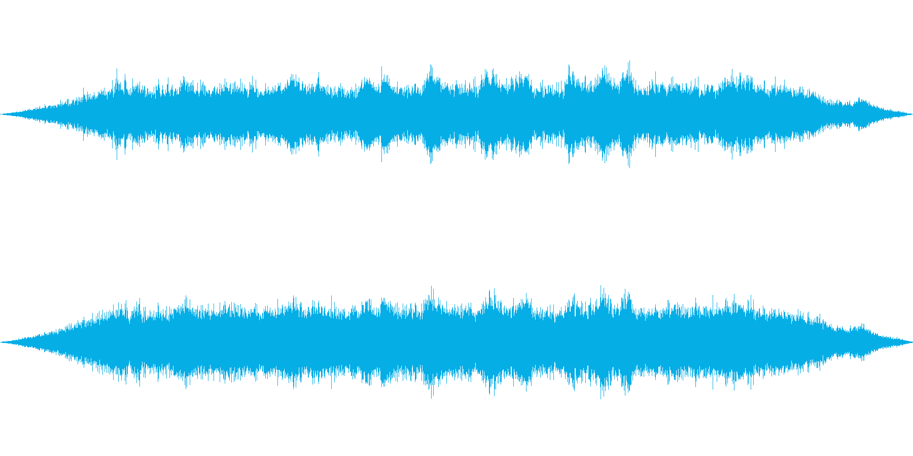 海 波 浜辺 海岸 カモメ等の環境音05の再生済みの波形