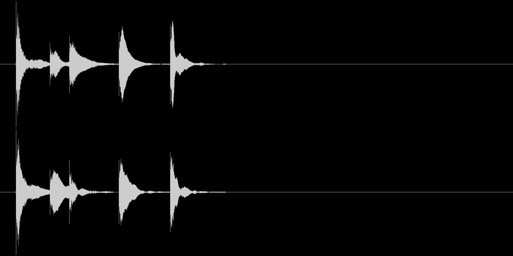 ゲームクリア の未再生の波形