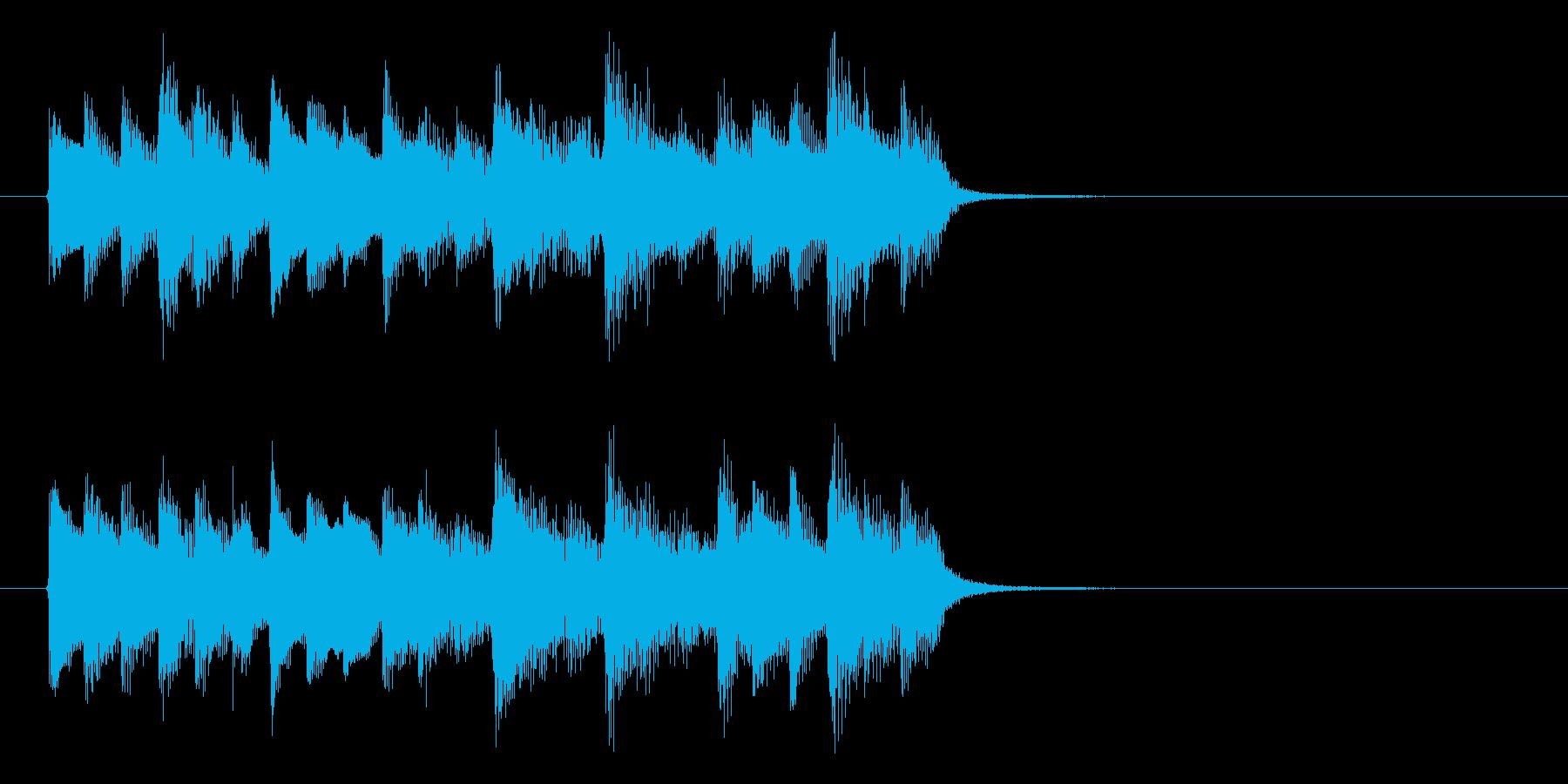 神秘的な森の中のようなBGM_ループ用1の再生済みの波形