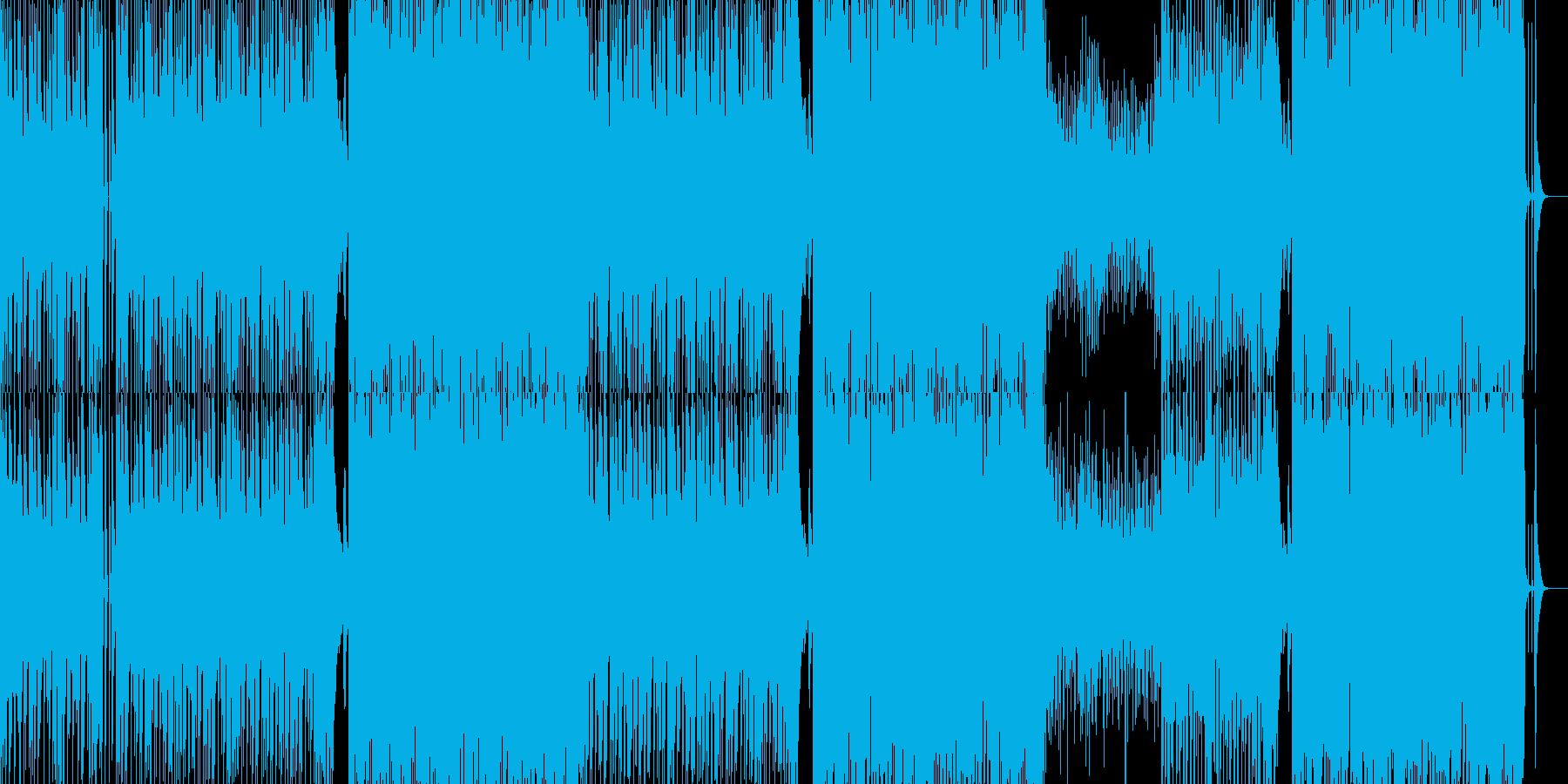 爽快でポップな笑顔溢れるBGMの再生済みの波形