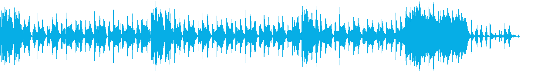 テクノでポップなBGMの再生済みの波形