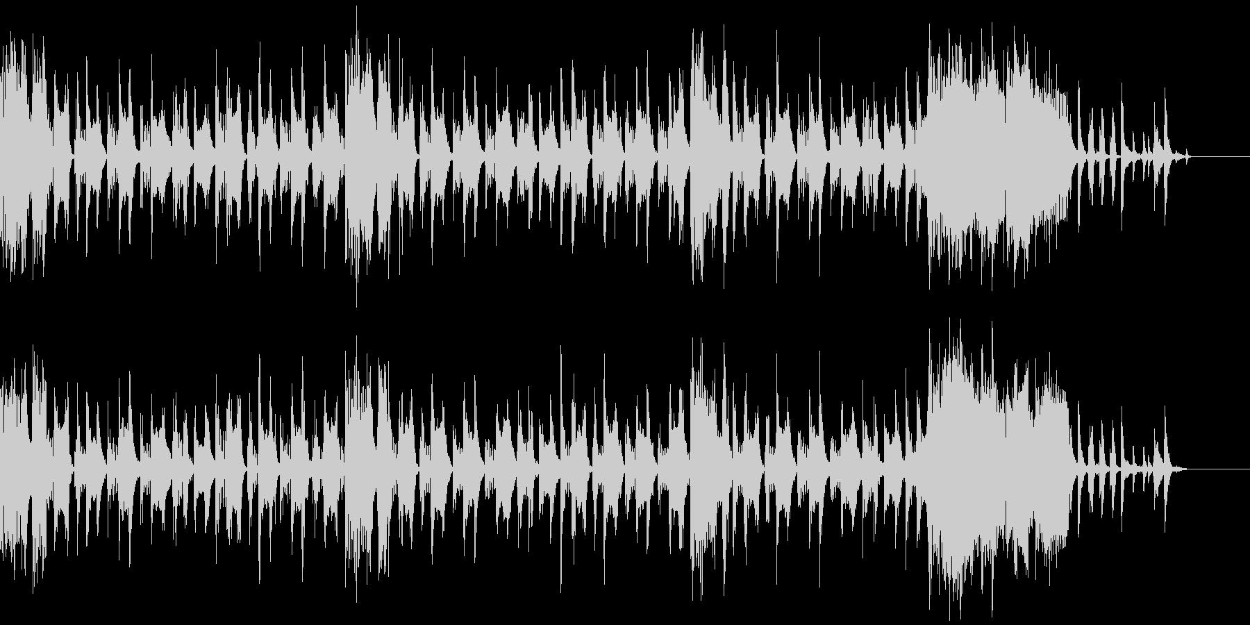 テクノでポップなBGMの未再生の波形