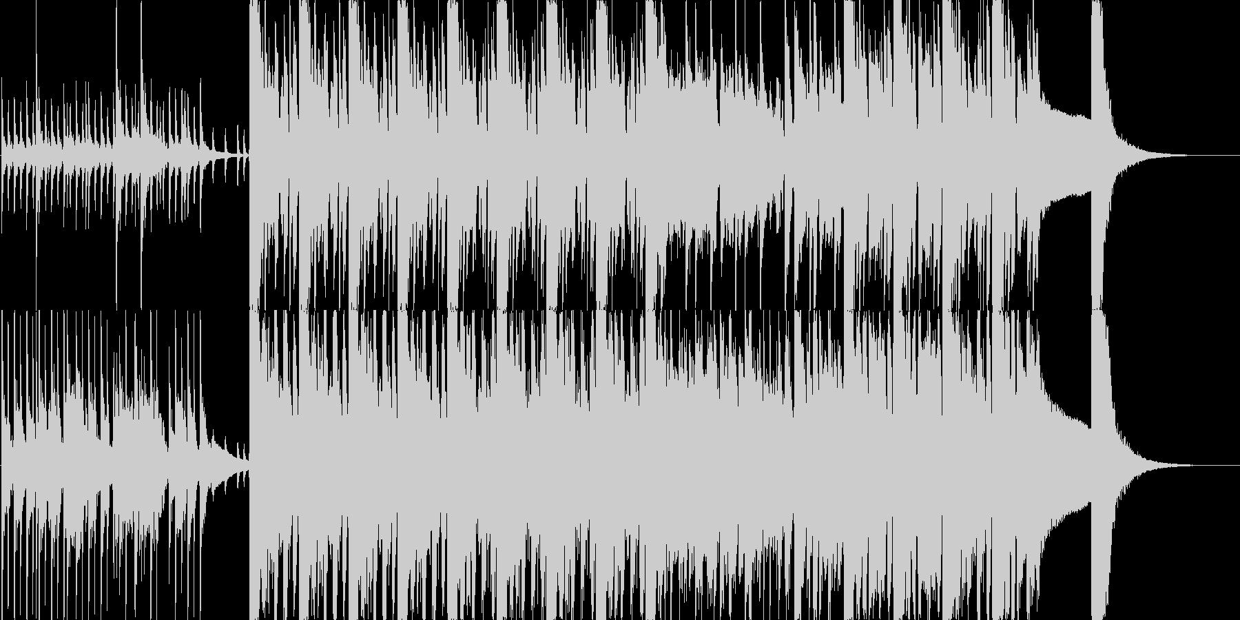 【ビックバンド】疾走感溢れるビックバンドの未再生の波形