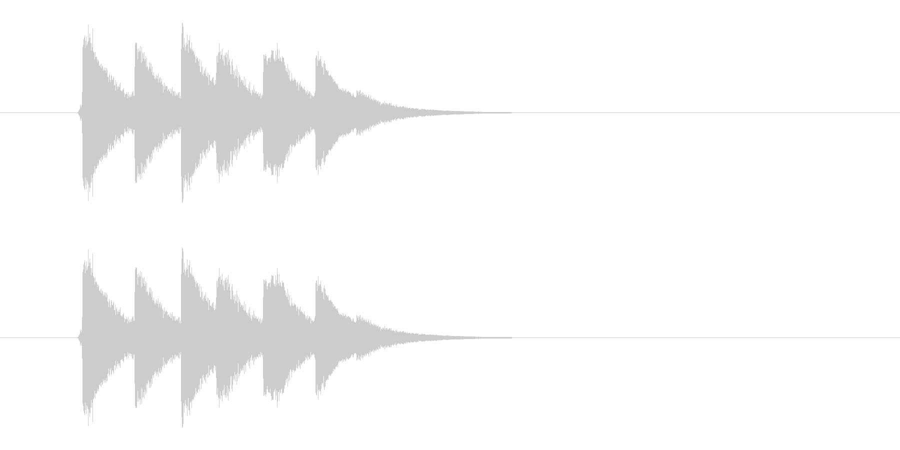 連続ヒットする攻撃音です。の未再生の波形