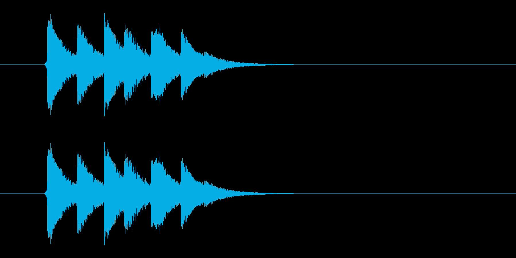 連続ヒットする攻撃音です。の再生済みの波形