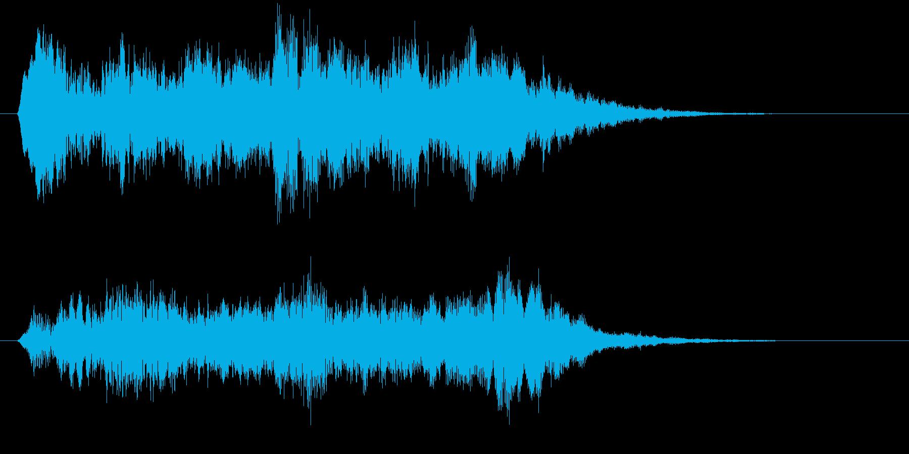 神秘な場所の音01の再生済みの波形