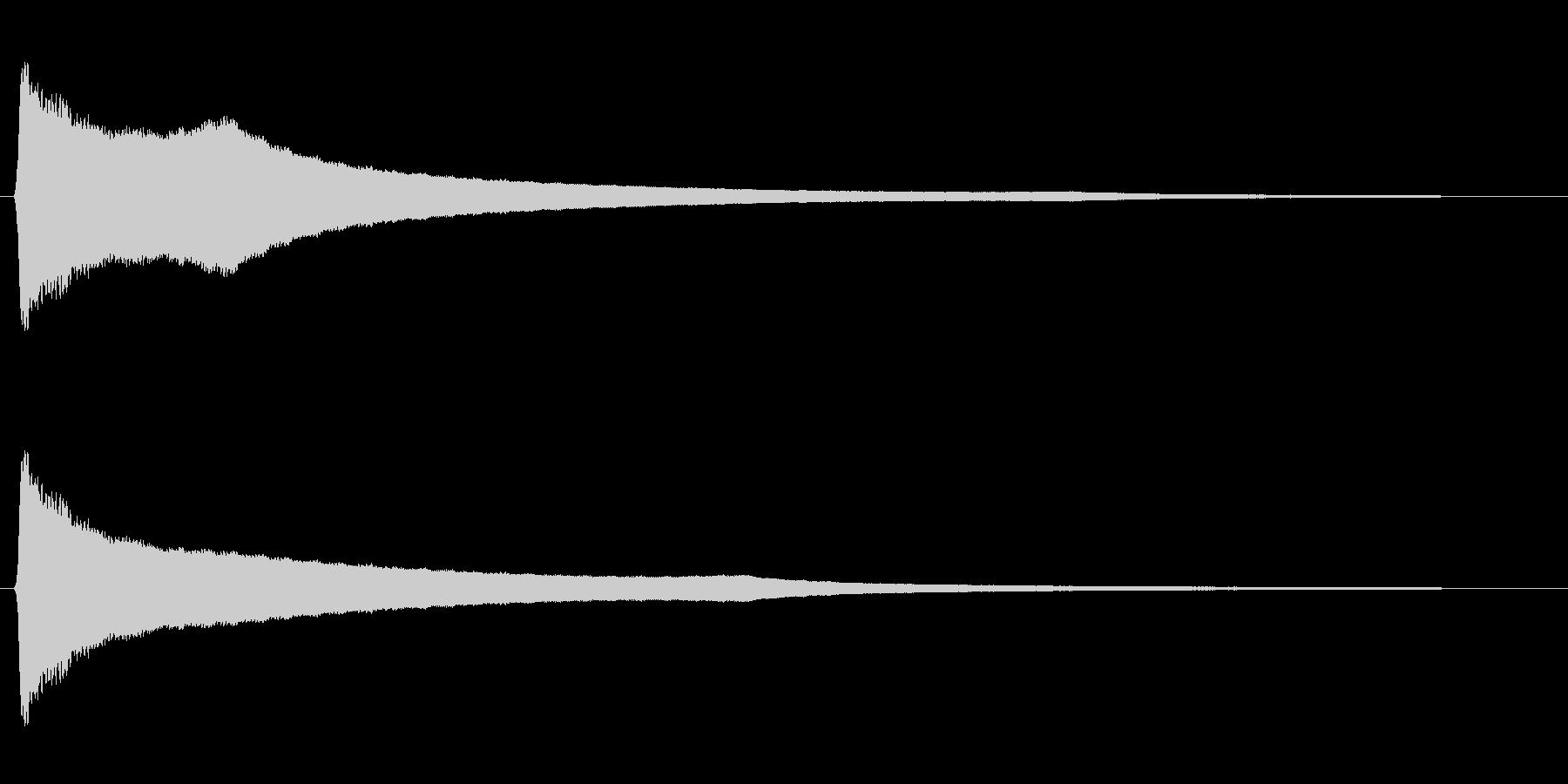 リーン(風鈴の音色)の未再生の波形