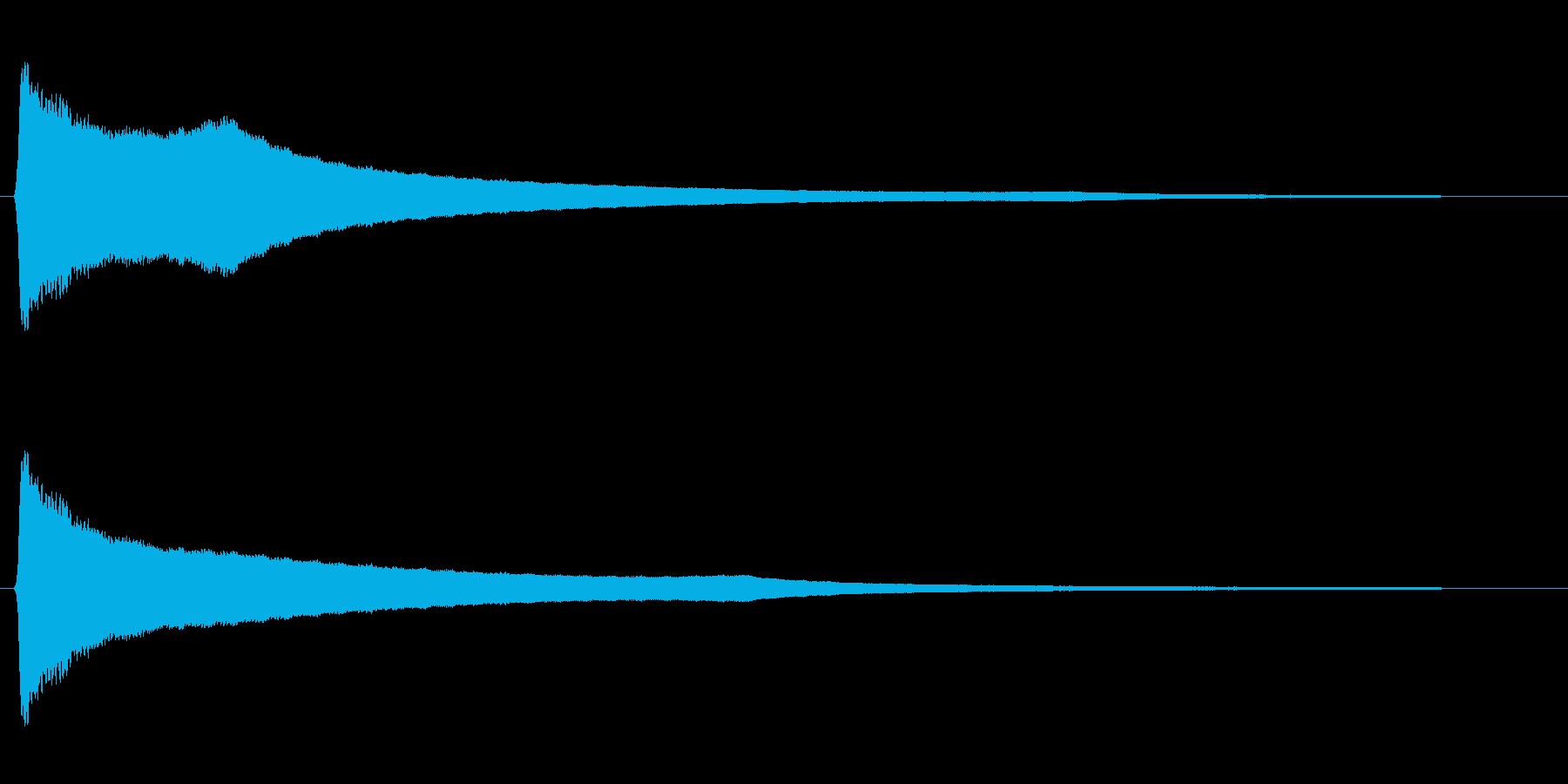 リーン(風鈴の音色)の再生済みの波形