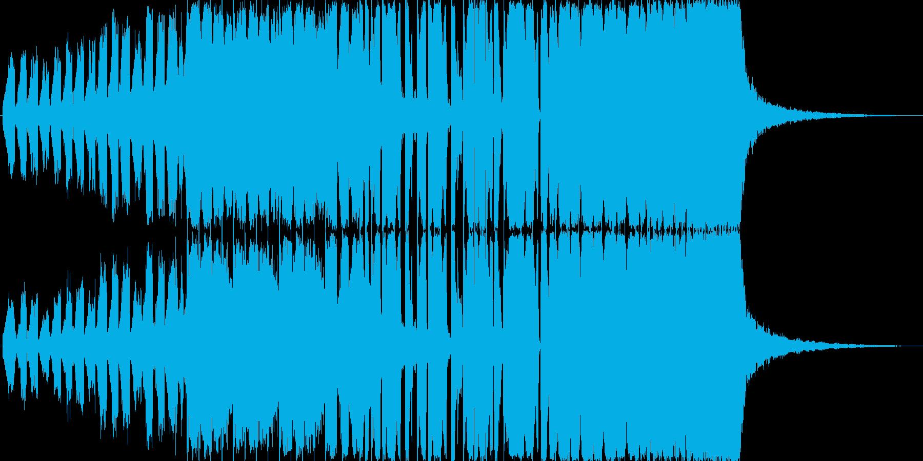 明るく元気なEDMですの再生済みの波形