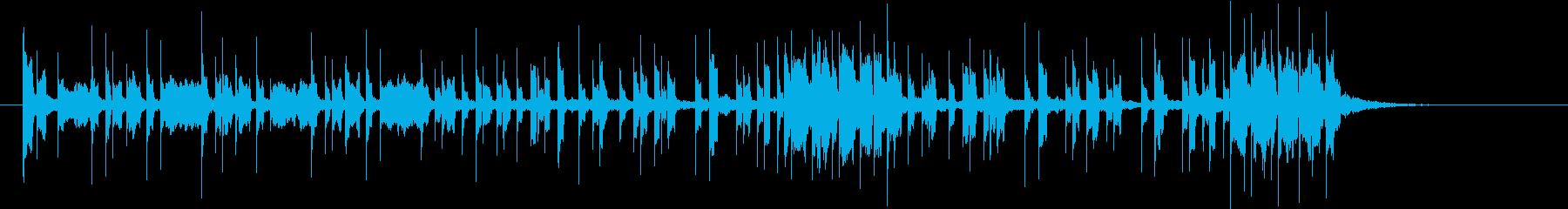 勢いのあるシンセパターン C− の再生済みの波形