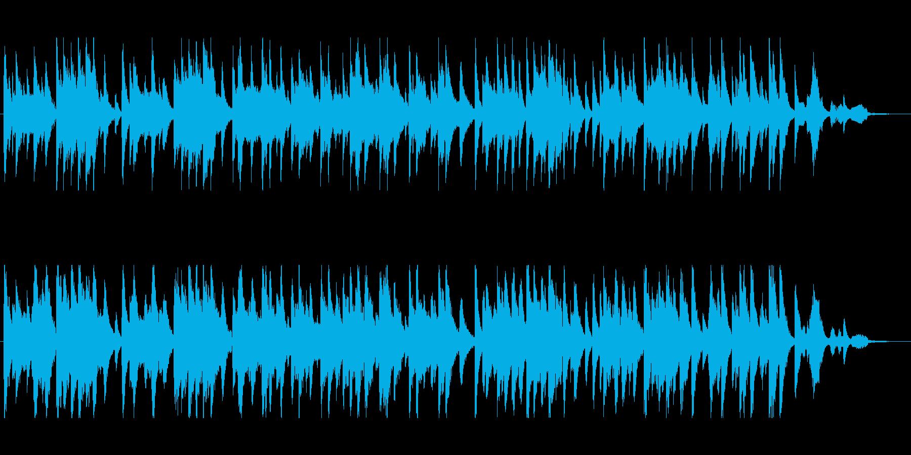 サックスとギターの優しいデュオ・バラードの再生済みの波形
