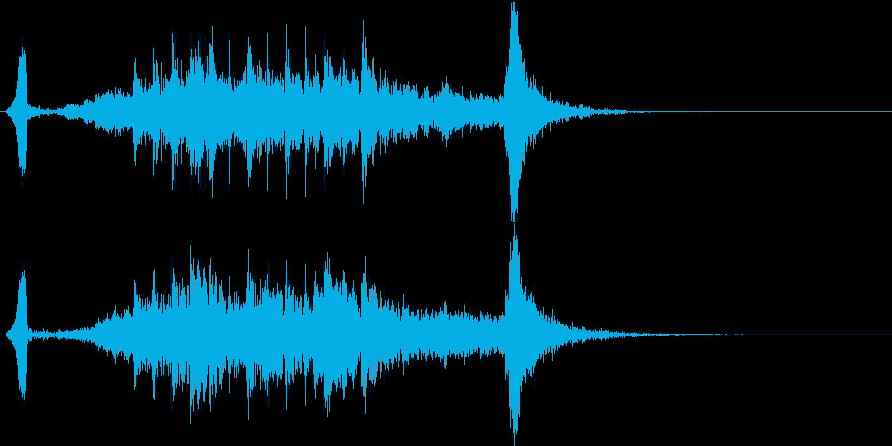 勢いのある和風サウンドロゴの再生済みの波形