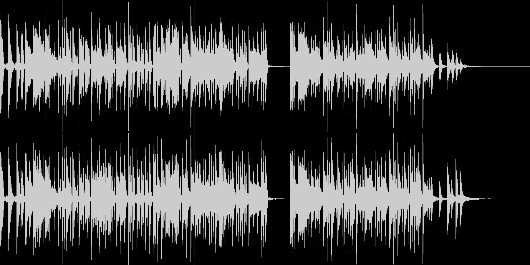カワイイPOPオシャレでノリがいい曲の未再生の波形