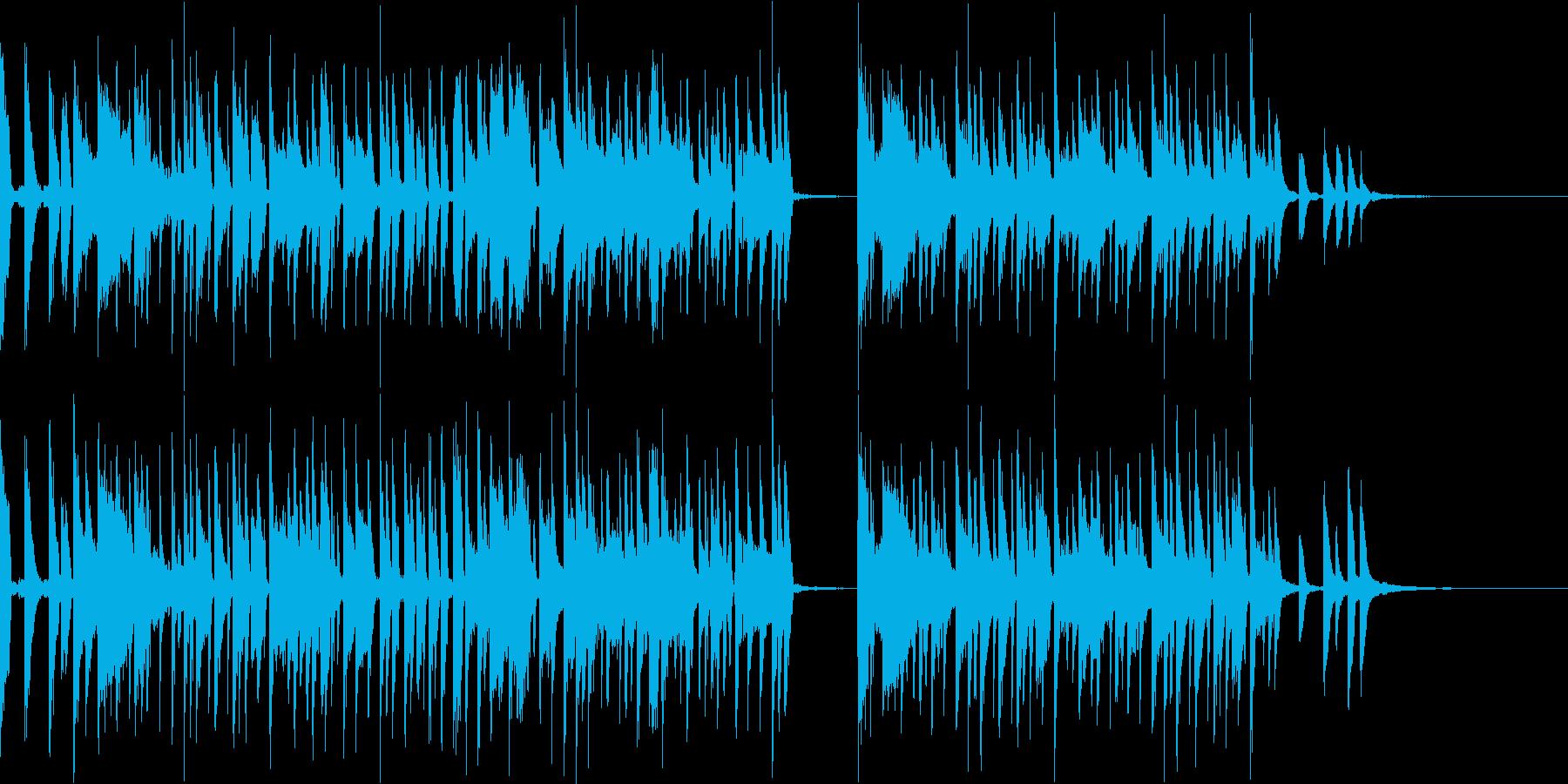 カワイイPOPオシャレでノリがいい曲の再生済みの波形