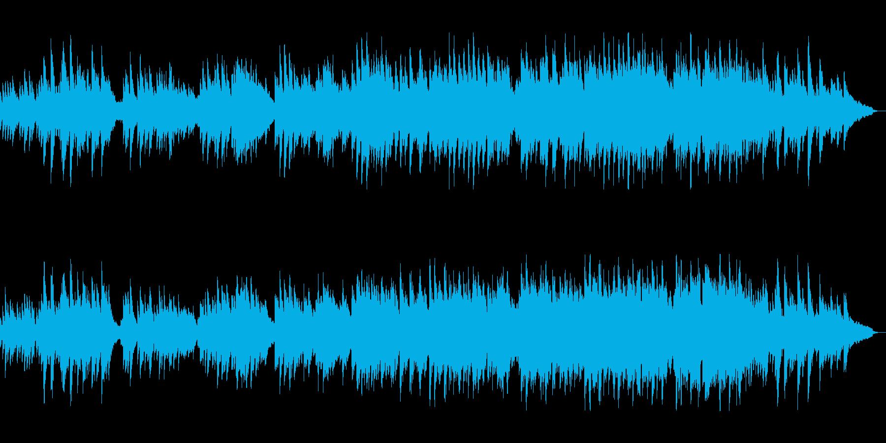 切ないメロディで涙を誘うピアノ曲の再生済みの波形