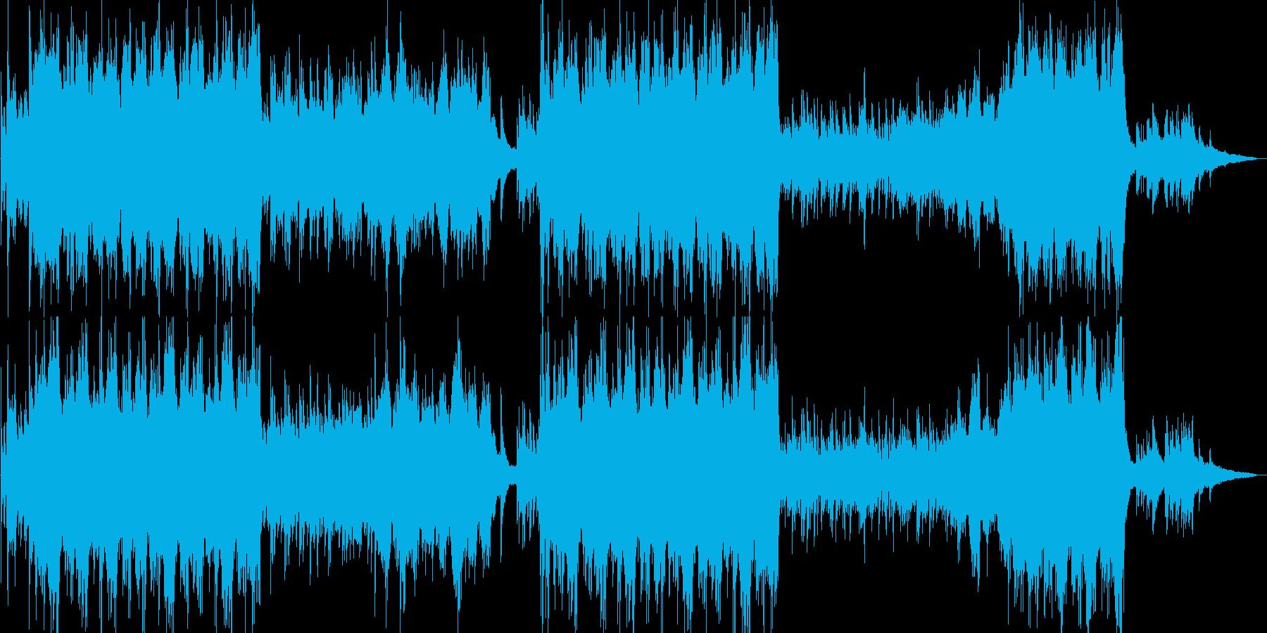 ピアノオーケストラで企業VP映像OPにの再生済みの波形