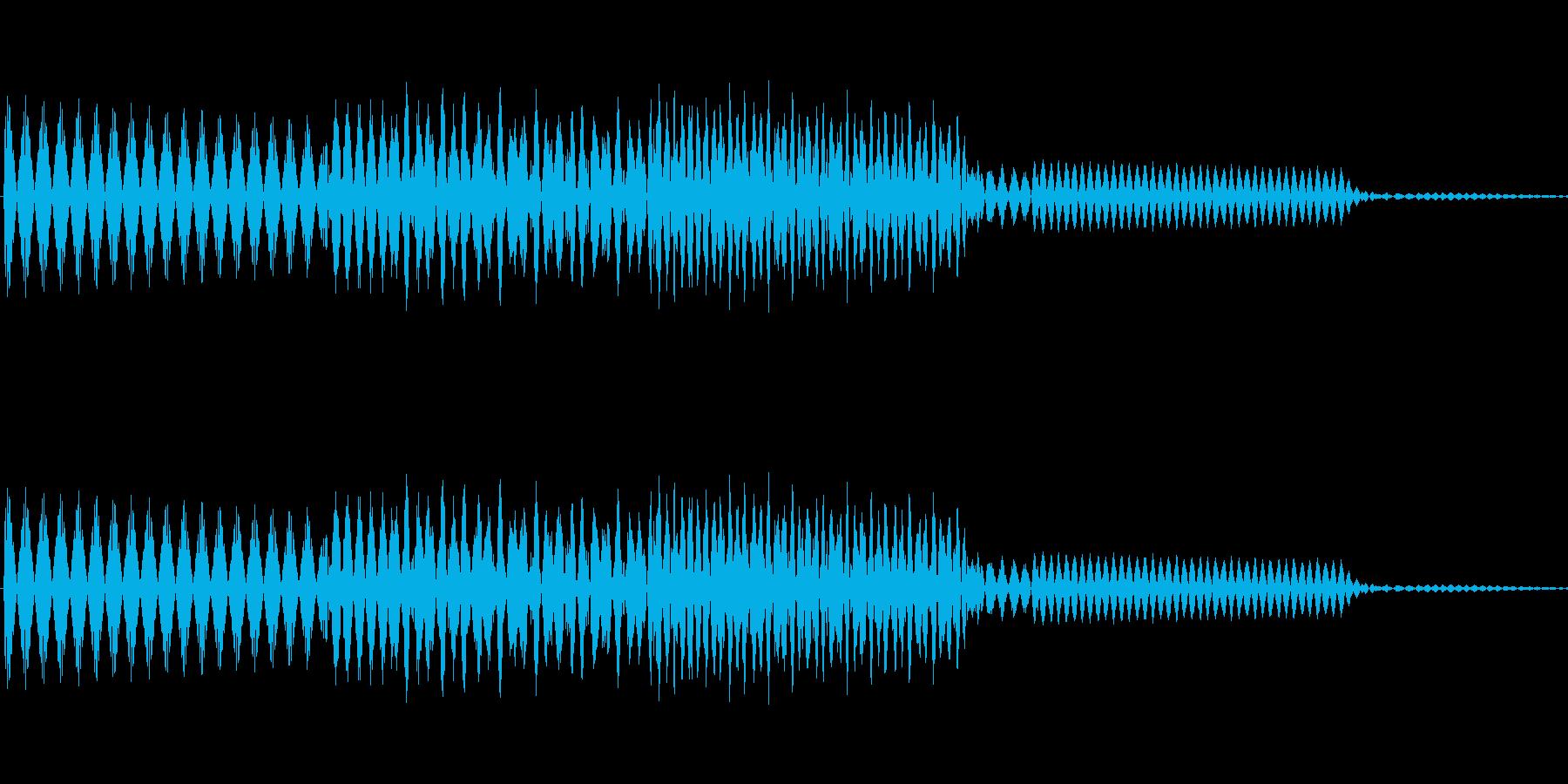 ボタン決定音システム選択タッチ登録C12の再生済みの波形