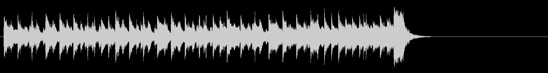 和やかなポップ BGM(イントロ)の未再生の波形