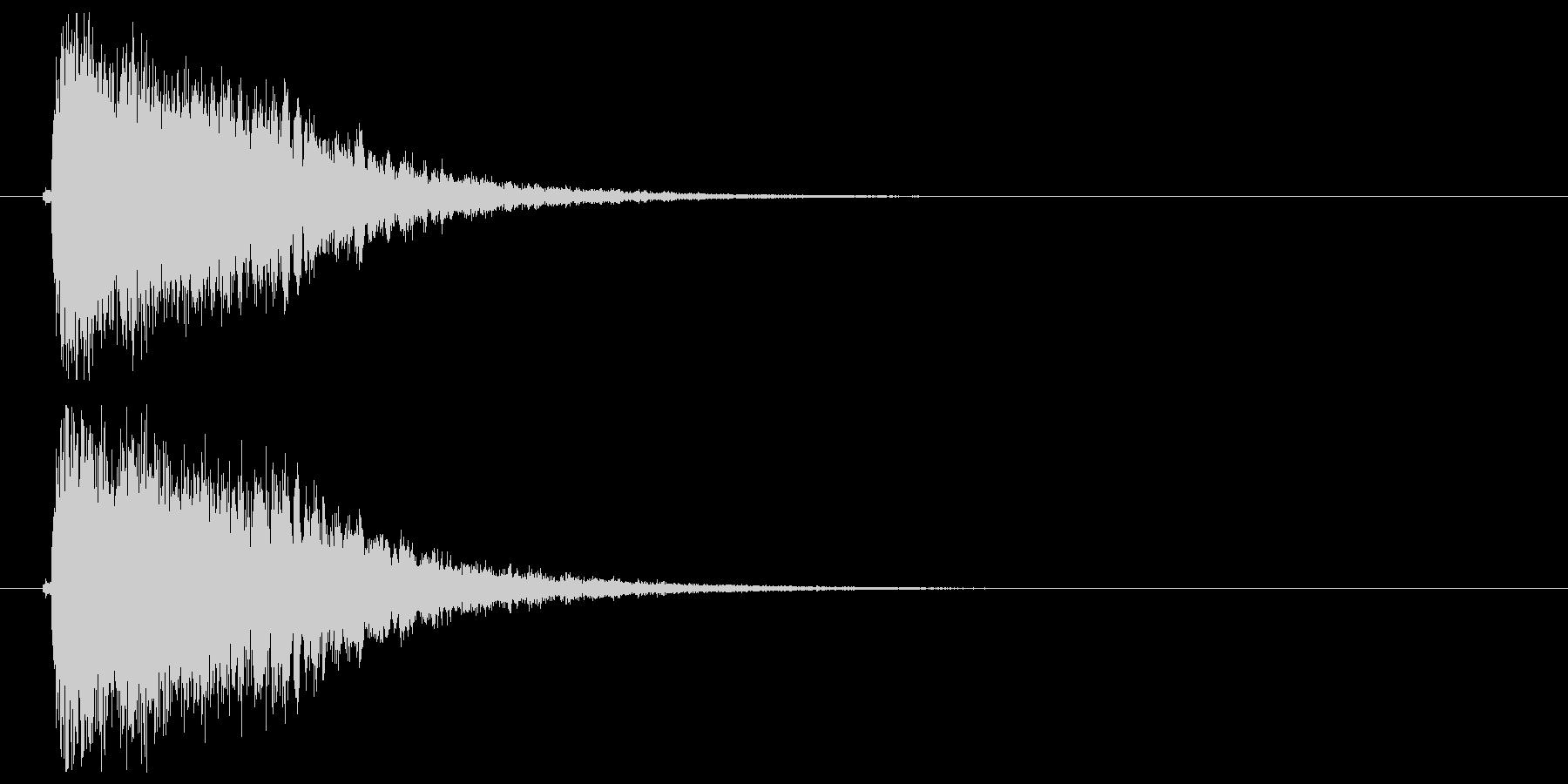 インパクト_キメの未再生の波形