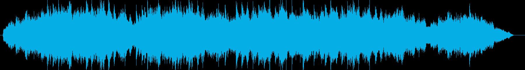弦と打楽器を使った禍々しいダンジョン曲の再生済みの波形
