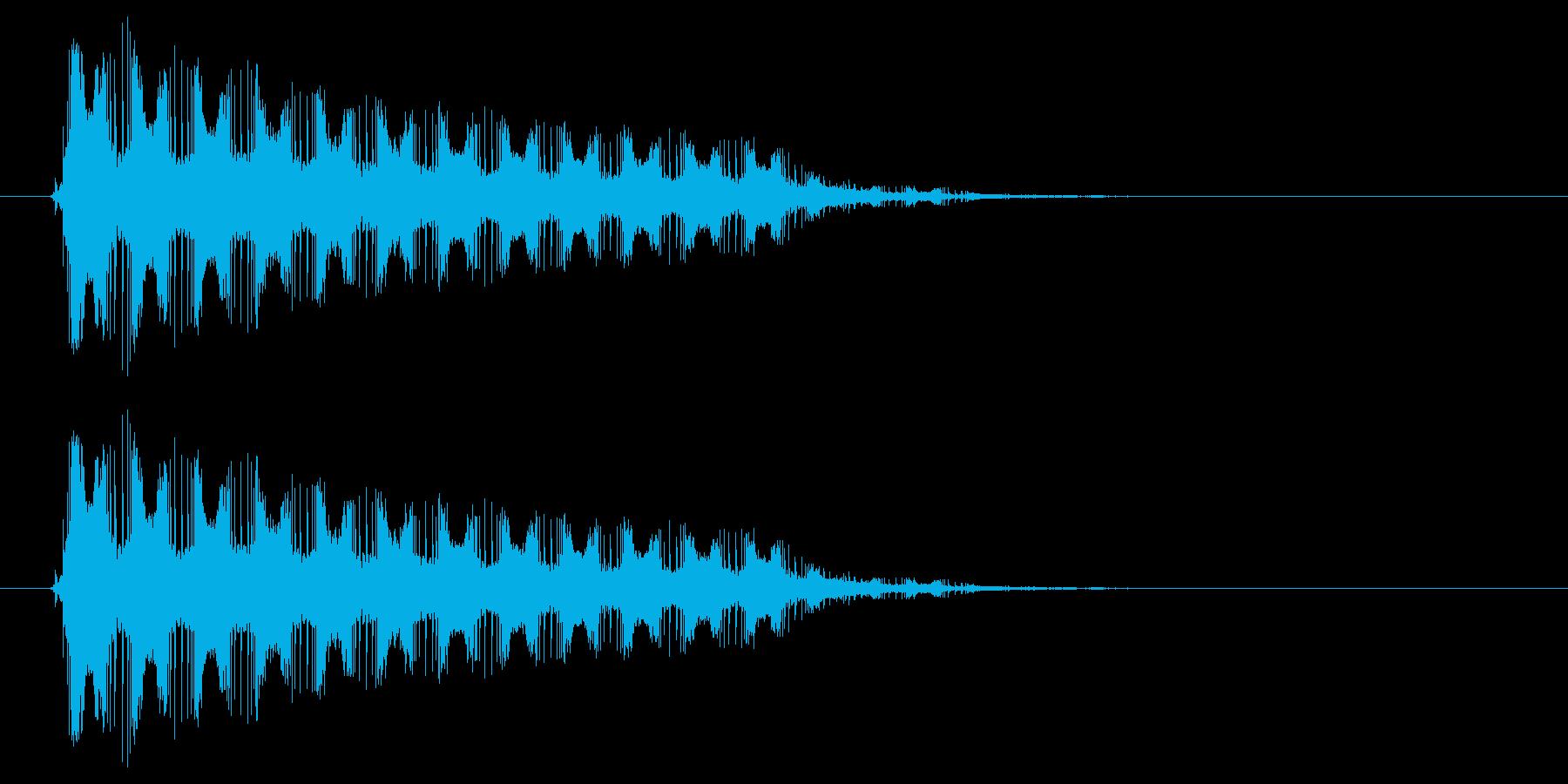 バリアを張る時の効果音・SEの再生済みの波形