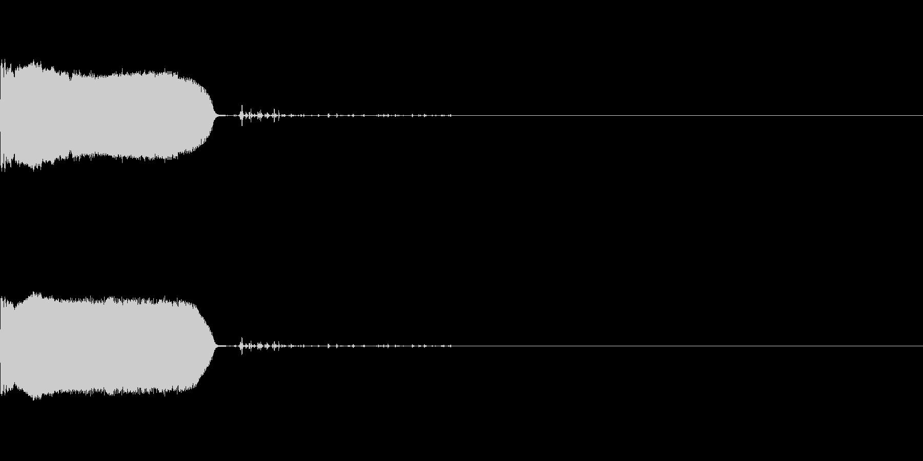 ボタンのクリック音や効果音。プー♪の未再生の波形
