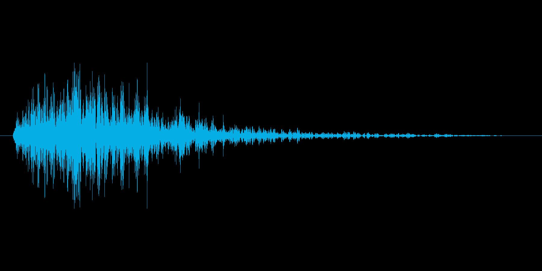 燃え盛る炎・火炎系魔法(低)プレーンmの再生済みの波形