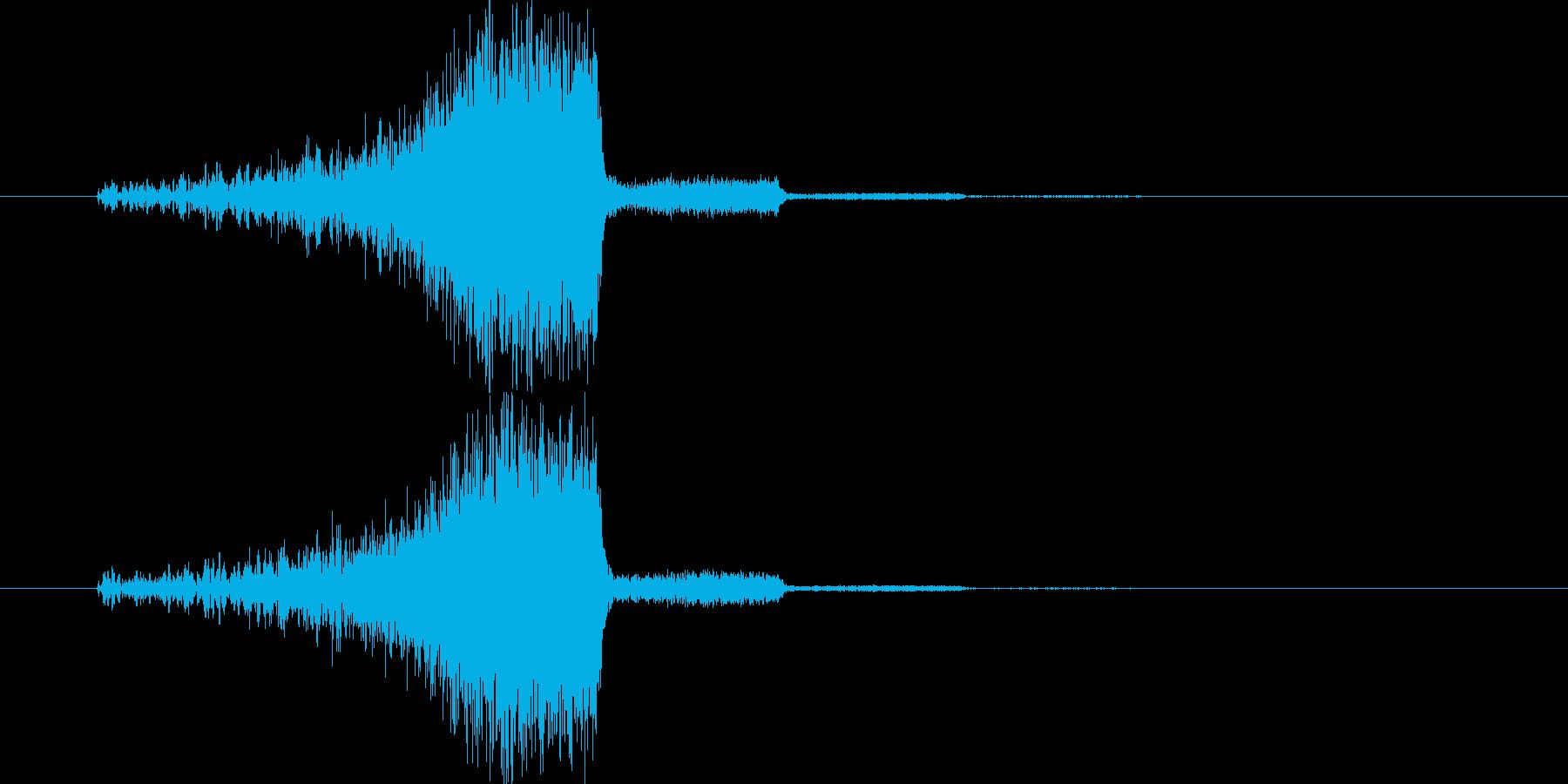 魔法効果_移動_吸い込みの再生済みの波形