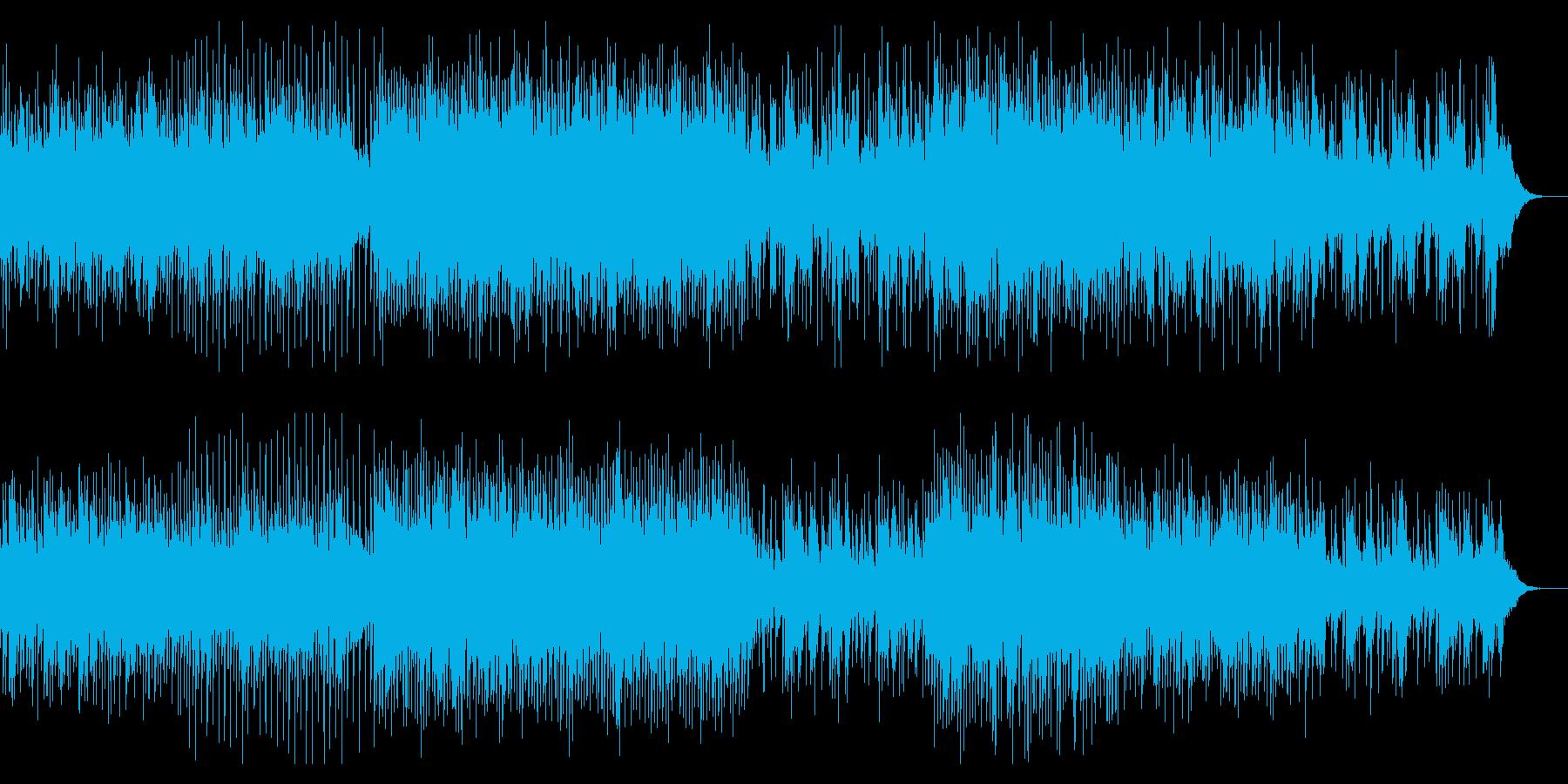 テンポの良い水中の不思議なBGMの再生済みの波形
