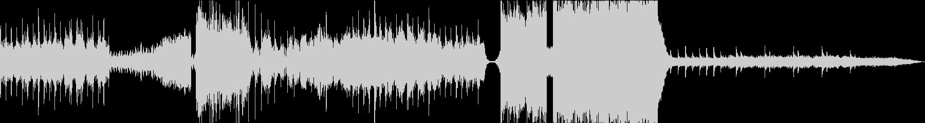 光の放射をイメージしたカラフルな曲の未再生の波形
