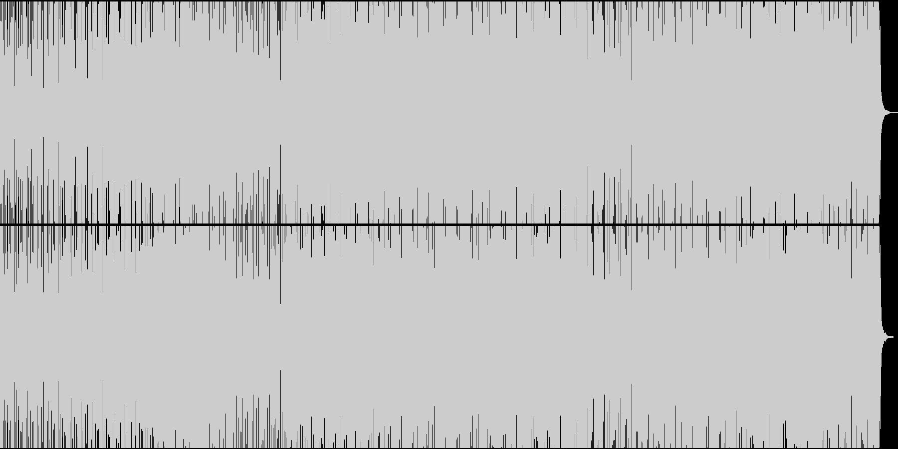 フィットネス・緊張感・ステディ・ギターの未再生の波形