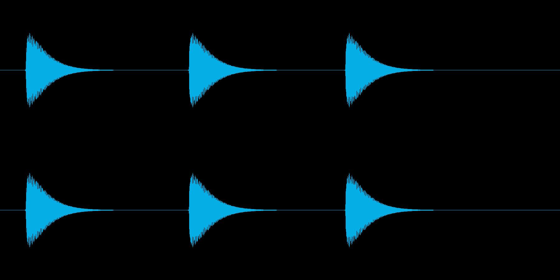 【ショートブリッジ13-3】の再生済みの波形