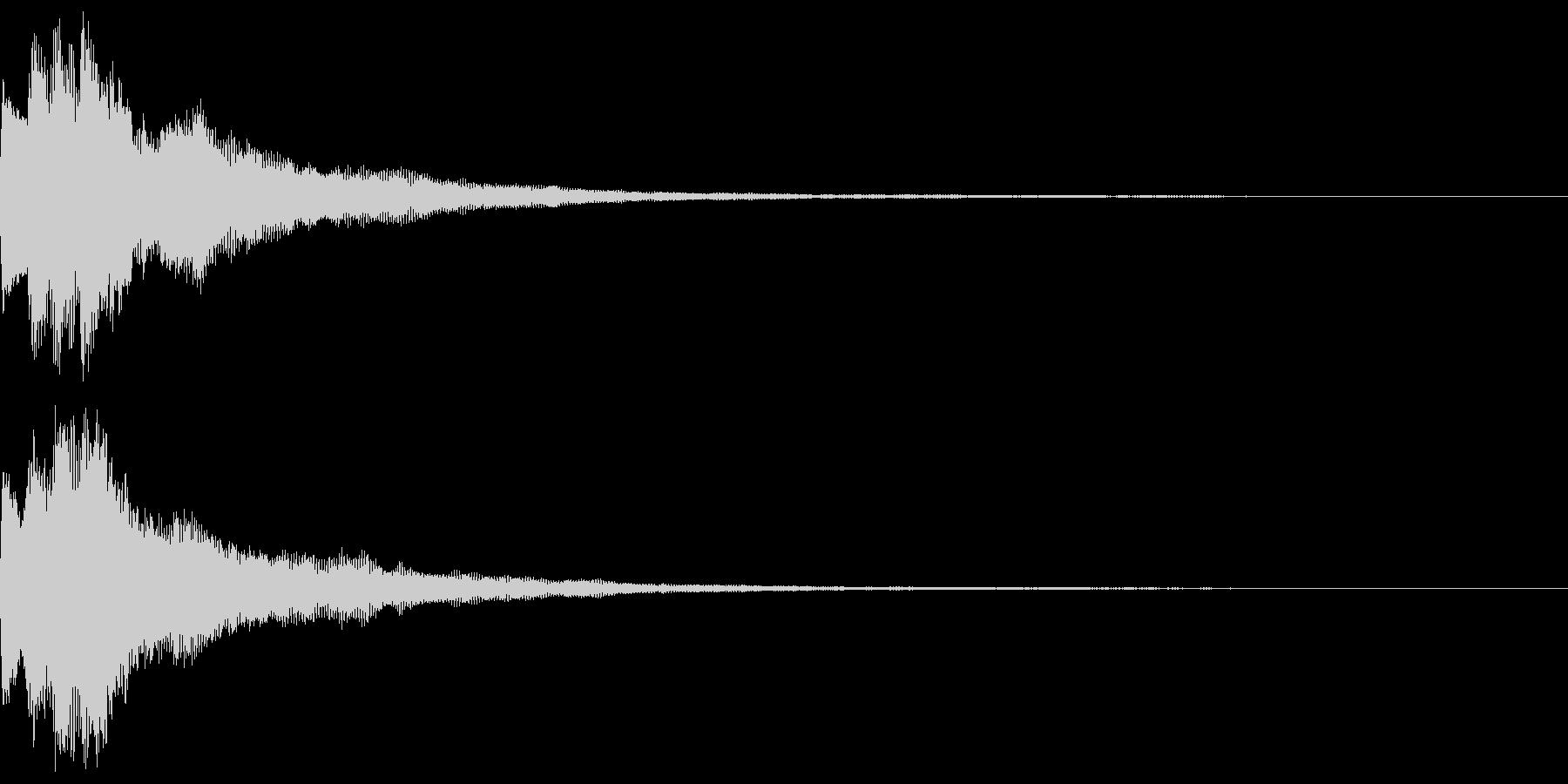 キラキラ キランなアタック音6-3の未再生の波形
