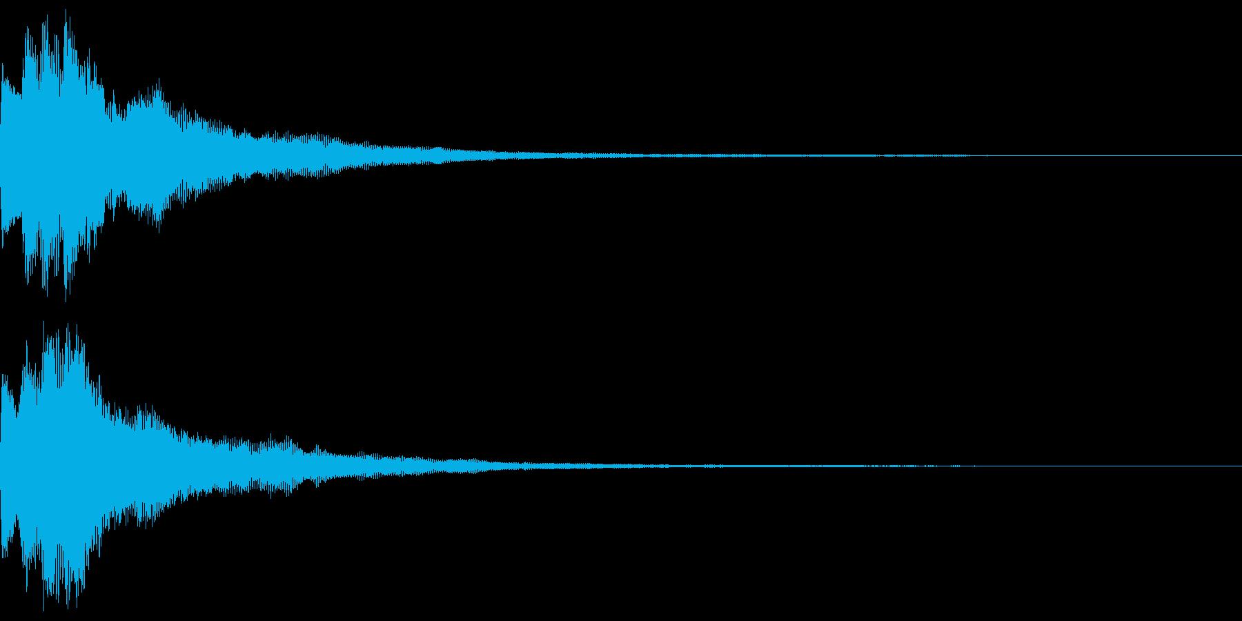 キラキラ キランなアタック音6-3の再生済みの波形