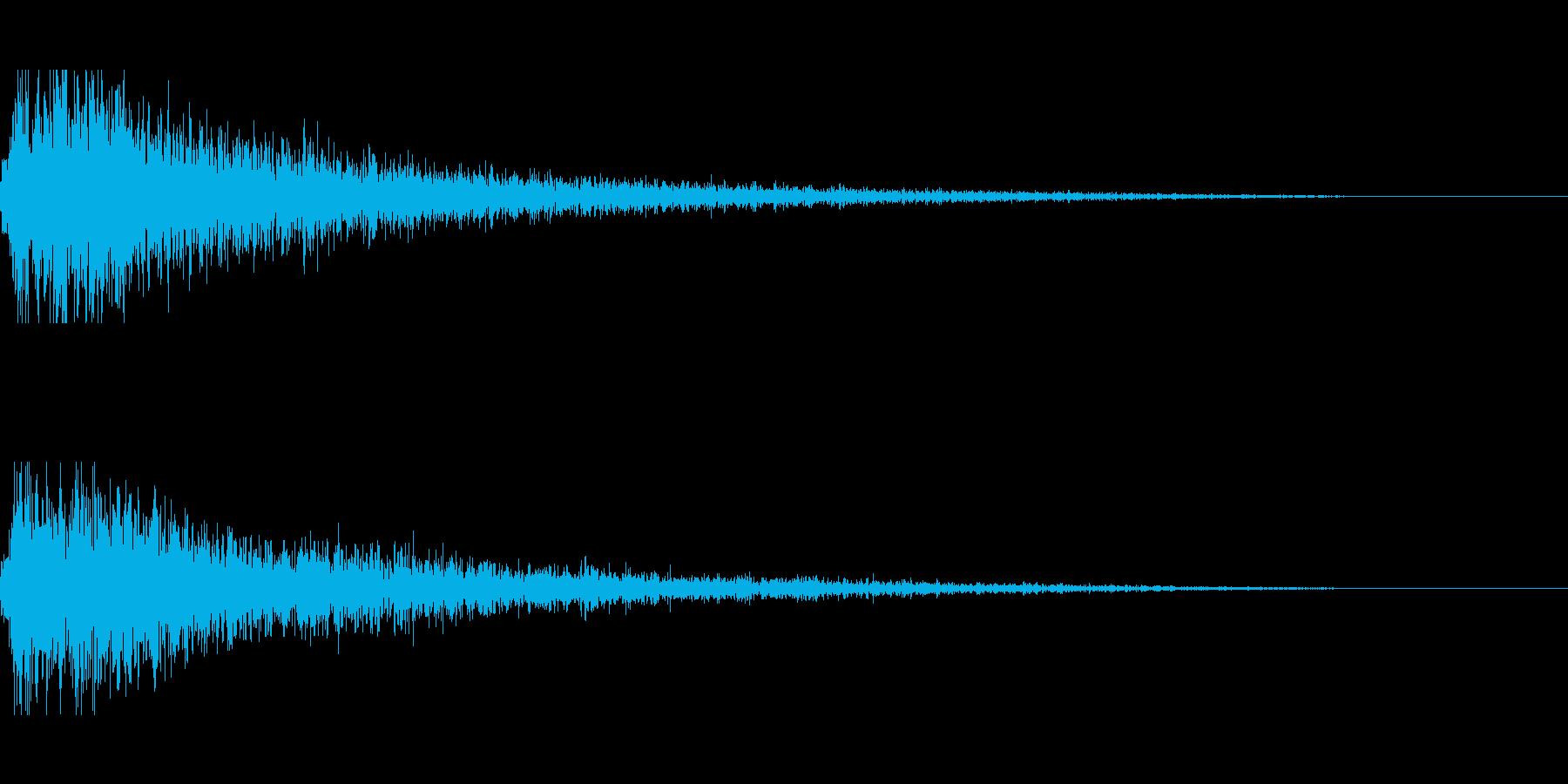 ガーンのシーンの再生済みの波形