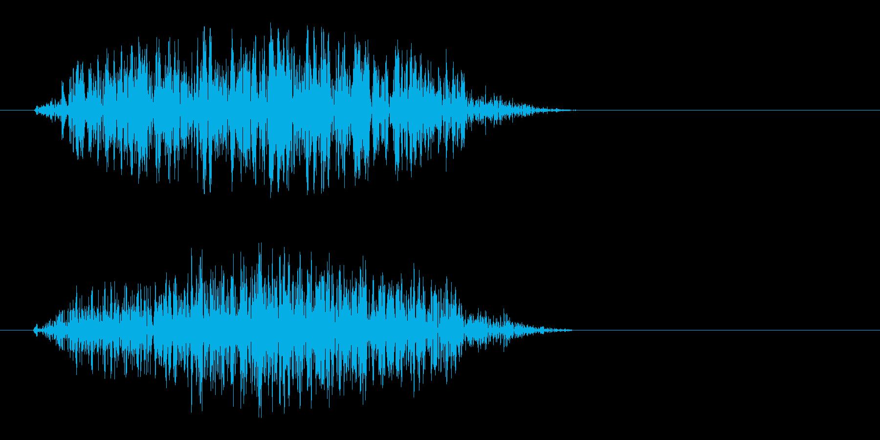 勢いよく空気が抜けるエアー音の再生済みの波形