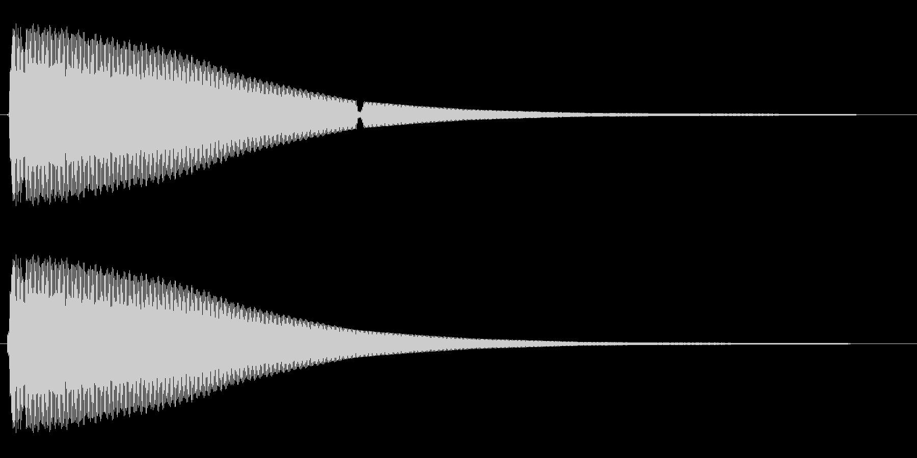 キーン(金属を叩いたような音)の未再生の波形