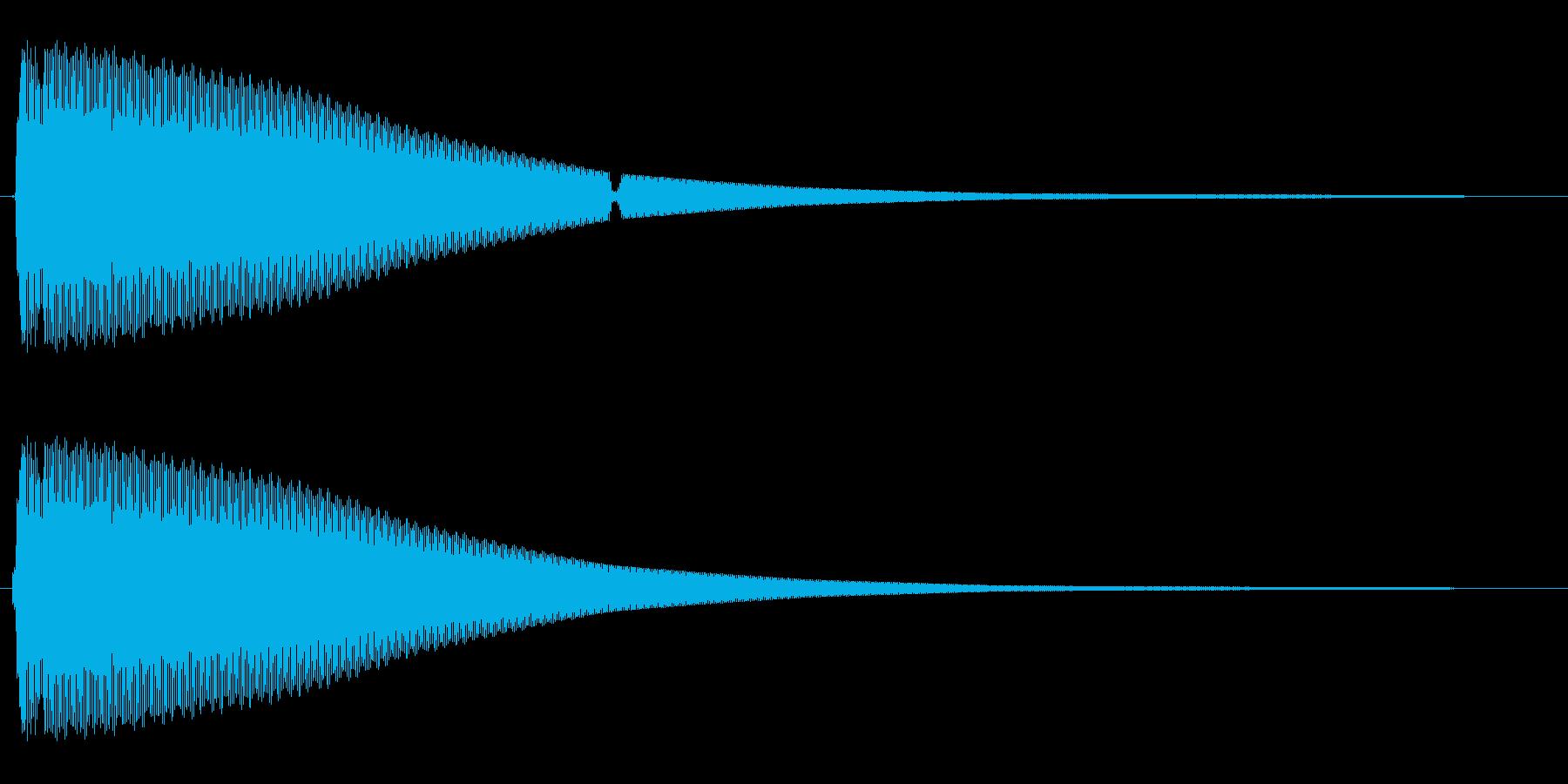 キーン(金属を叩いたような音)の再生済みの波形