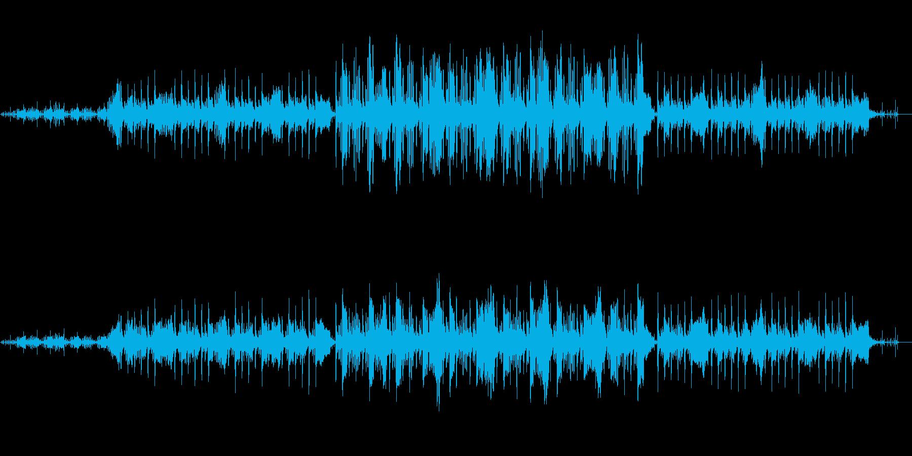 いたずらっぽいコミカルな曲の再生済みの波形