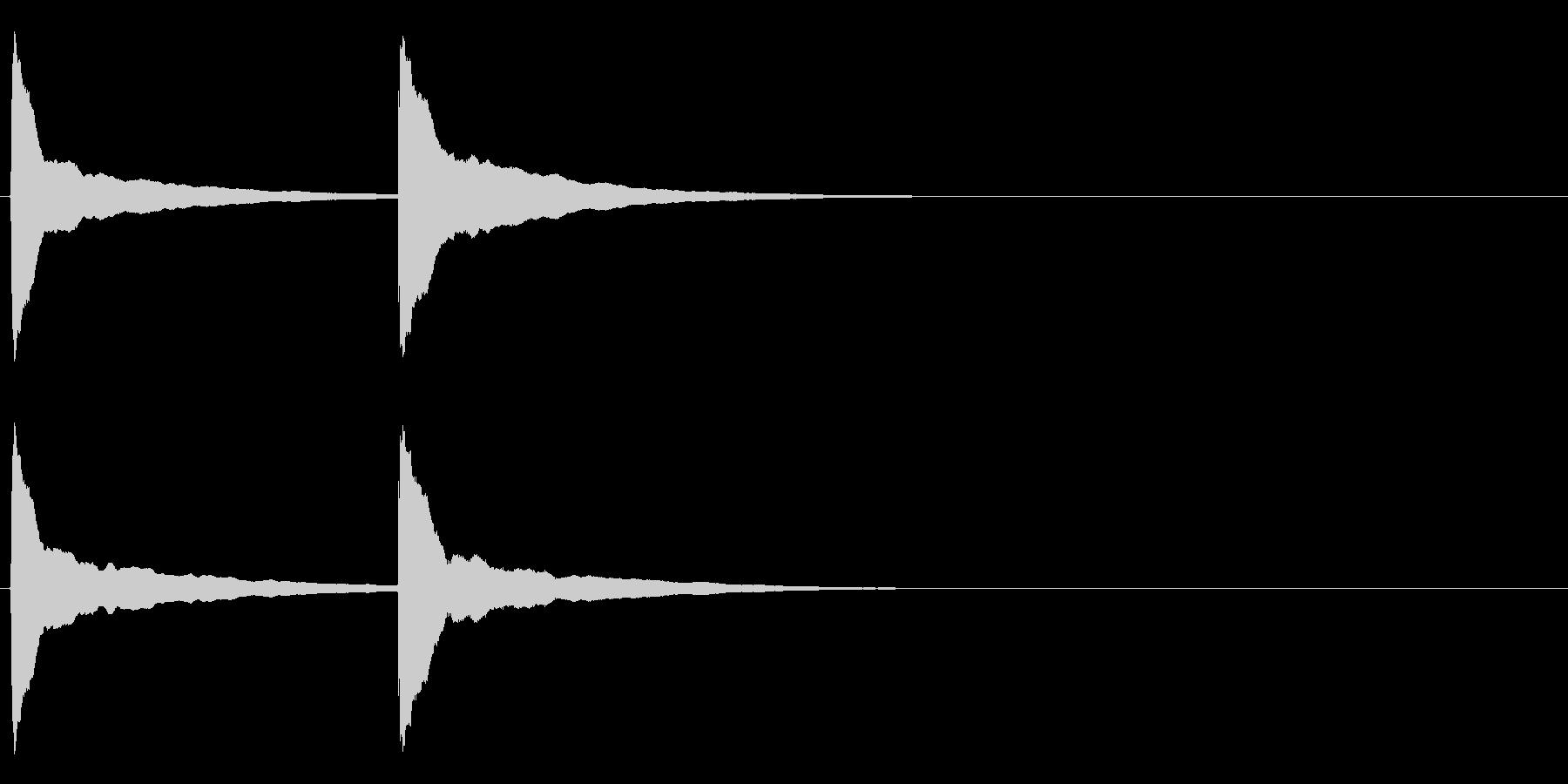 ピンポン (4) の未再生の波形