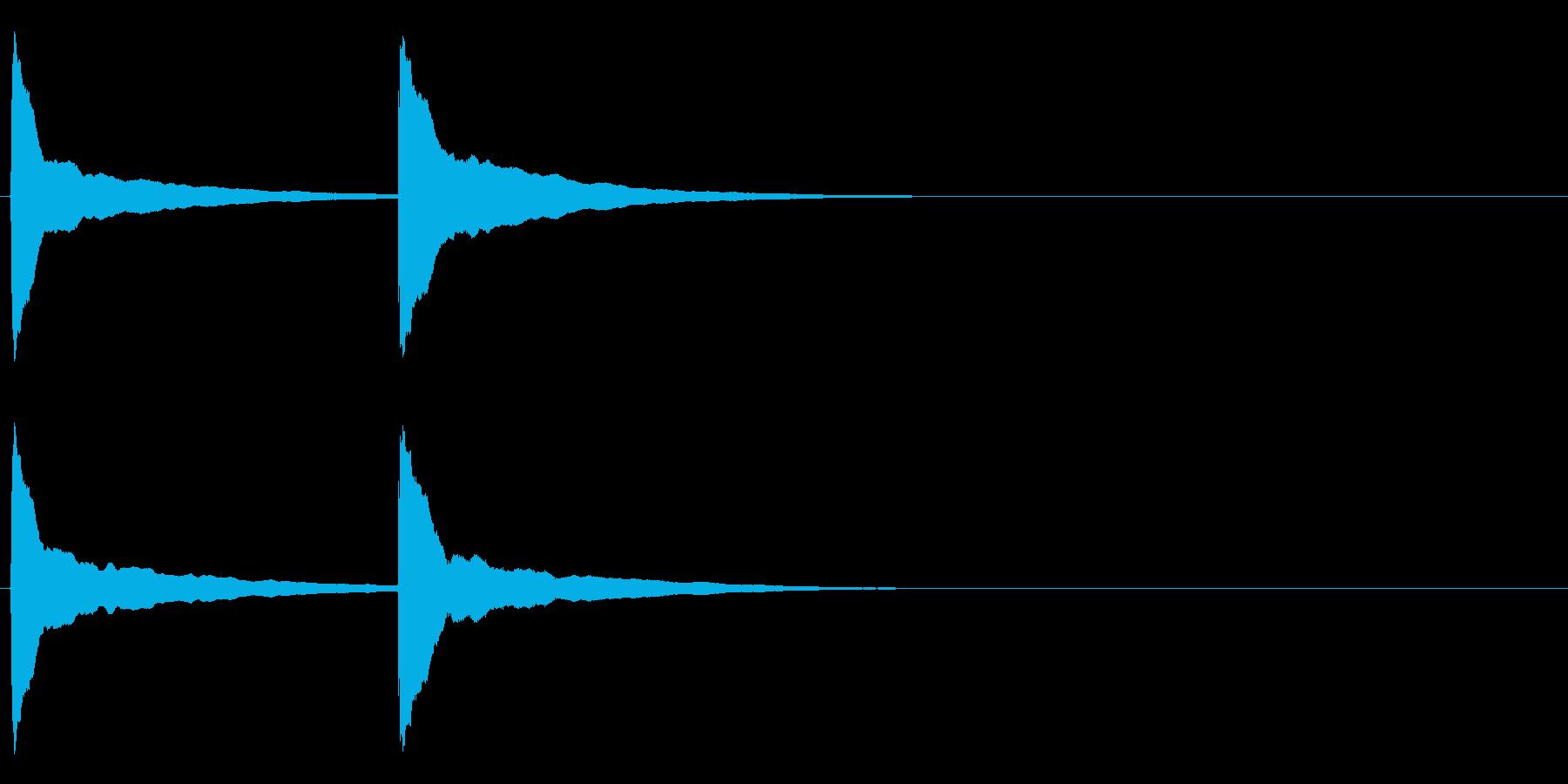 ピンポン (4) の再生済みの波形