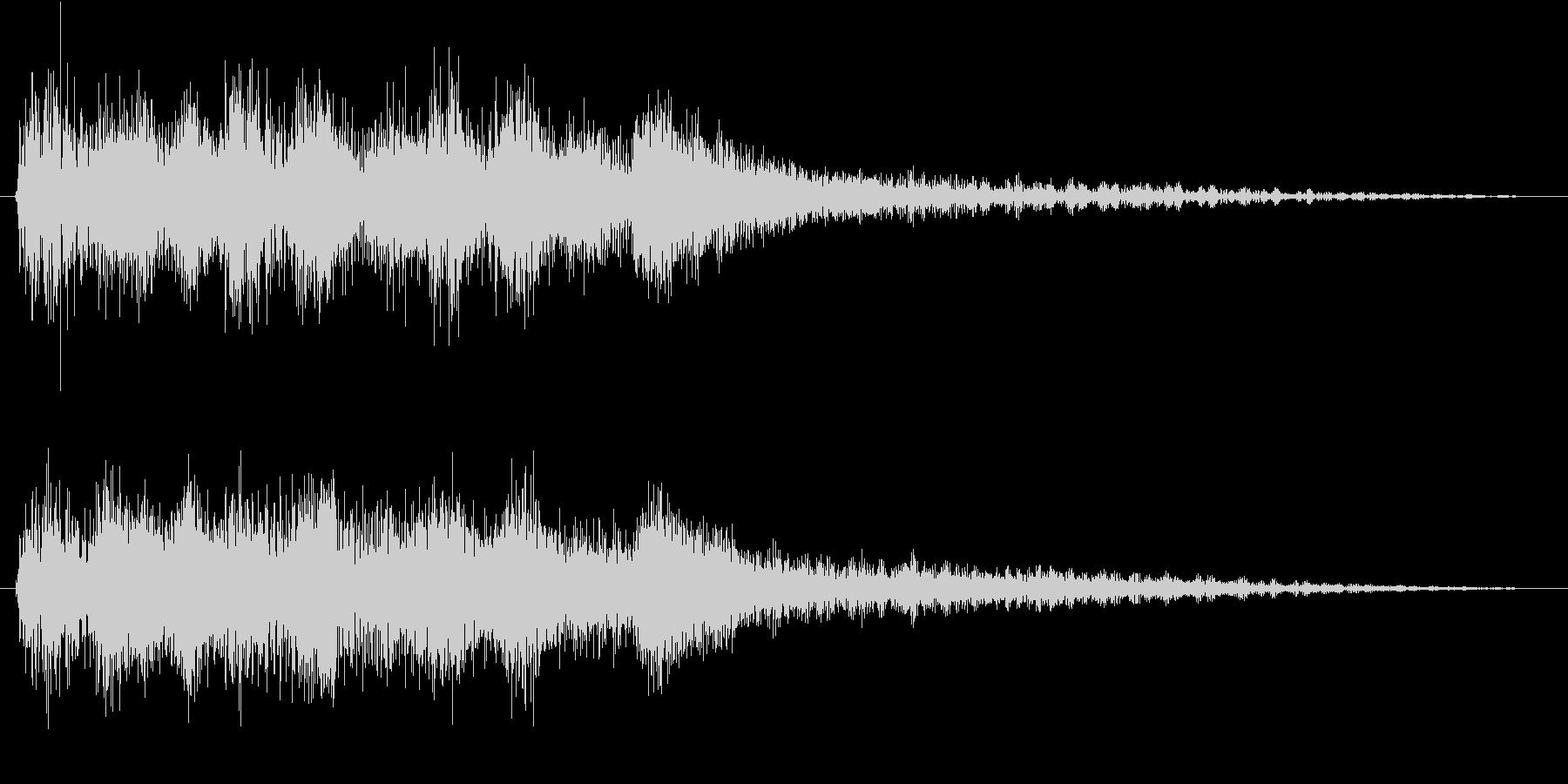 クラシックなイベント達成音ジングル8の未再生の波形