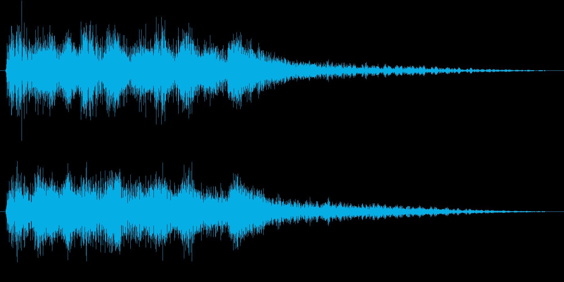 クラシックなイベント達成音ジングル8の再生済みの波形
