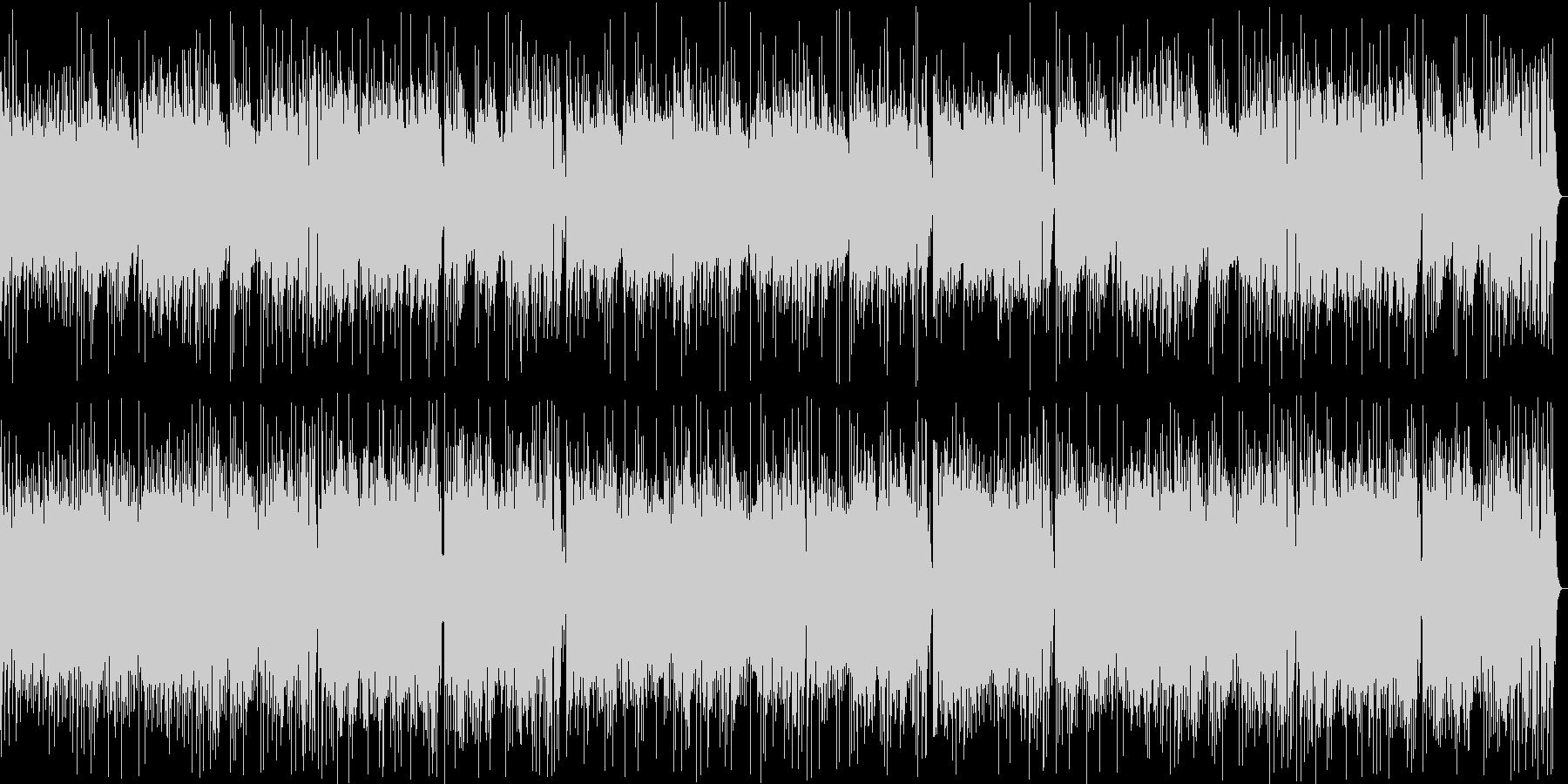 楽しげなギター・シンセサウンドの未再生の波形