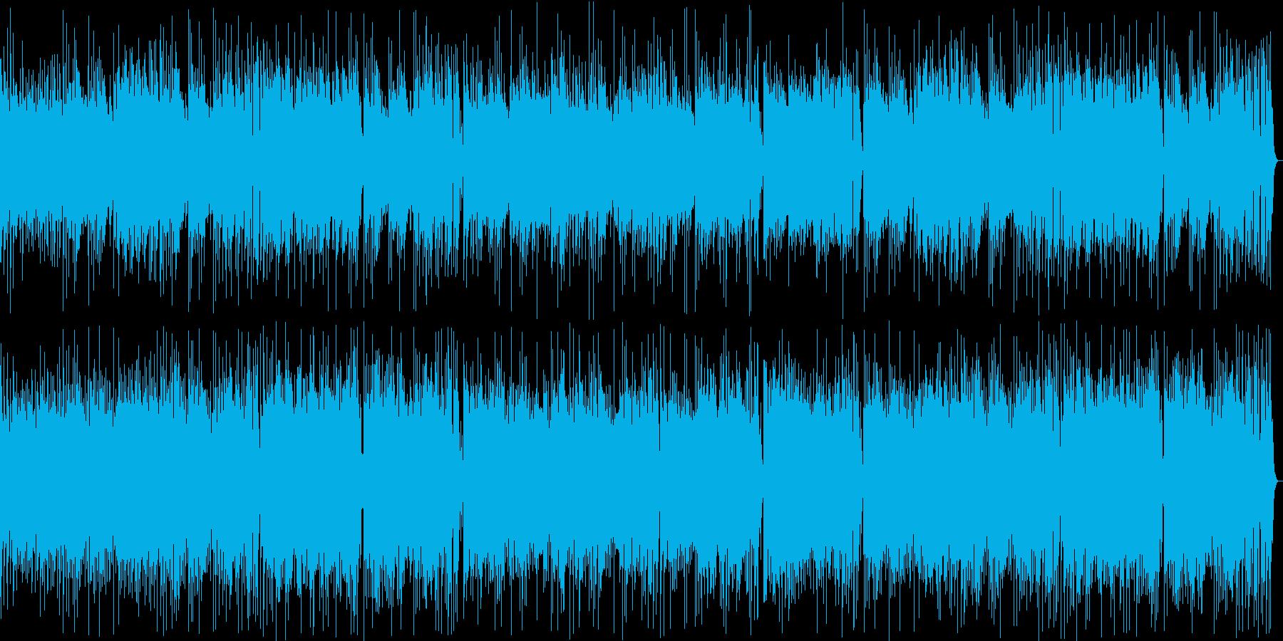 楽しげなギター・シンセサウンドの再生済みの波形