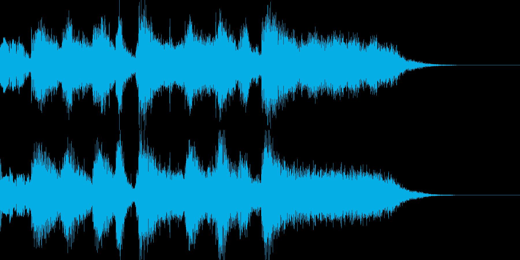 緊張感のある場面でのショートBGMの再生済みの波形