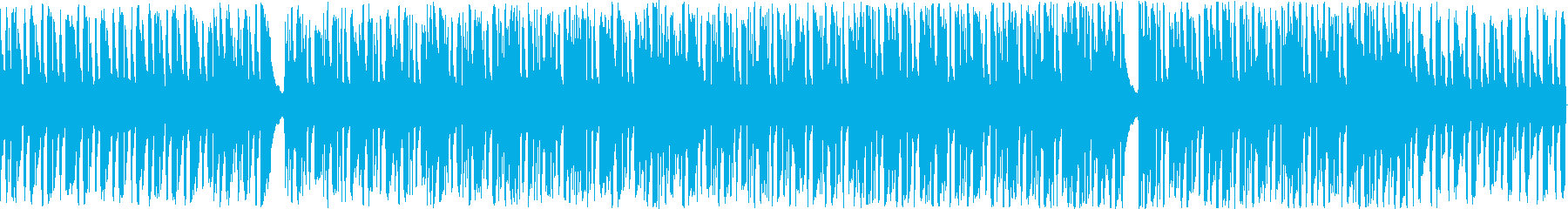 ハロウィン向けワルツ風ループ楽曲の再生済みの波形