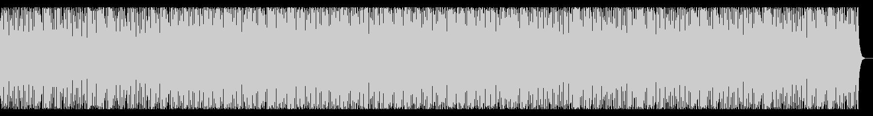 抑揚があまりない4つ打ち曲の未再生の波形